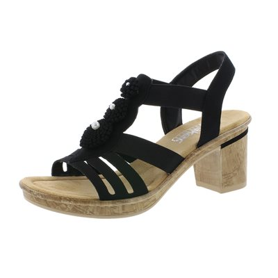 Black Heel Sandal V4595-00