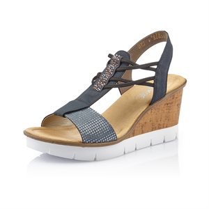 Blue Wedge Sandal V5582-12