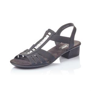 Black High Heel Sandal V6264-00
