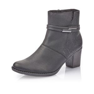 Black High Heel Bootie Z7684-00