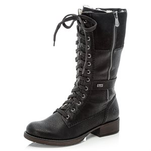 Black laced Winter Boot Z9593-00